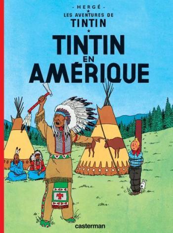 Couverture de l'album Les Aventures de Tintin (Petit format) - 3. Tintin en Amérique