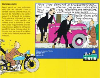 Couverture de l'album Tintin (En voiture) - 69. Le cabriolet des Dupondt du Sceptre d'Ottokar