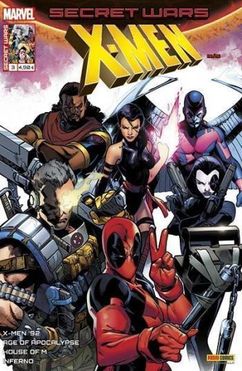 Couverture de l'album Secret Wars - X-Men - 3. Manipulations