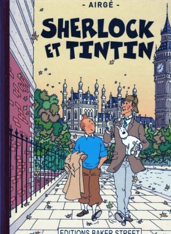 Couverture de l'album Tintin (Pastiches, parodies et pirates) - HS. Sherlock et Tintin