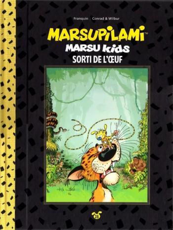 Couverture de l'album Marsupilami (Collection Hachette) - 28. Marsu Kids - Sorti de l'œuf