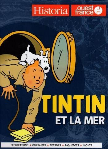 Couverture de l'album Tintin (Divers et HS) - HS. Tintin et la Mer - Ouest France