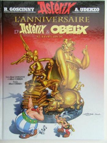 Couverture de l'album Astérix - 34. L'anniversaire d'Astérix et Obélix - le livre d'or