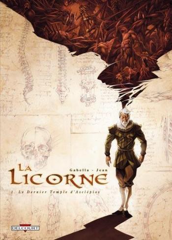 Couverture de l'album La Licorne - 1. Le dernier temple d'Asclépios