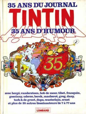 Couverture de l'album 35 ans du journal Tintin - 35 ans d'humour (One-shot)