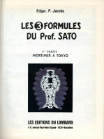 Extrait 1 de l'album Blake et Mortimer (Dargaud et Le Lombard) - 10. Les 3 Formules du prof. Sato I - Mortimer à Tokyo